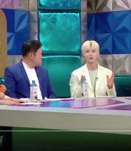 "hwangminhyeon6 ファン·ミニョン、ツッコミ系MCさんから急に""お前、本当にイケメンだな""と言われて爆笑"